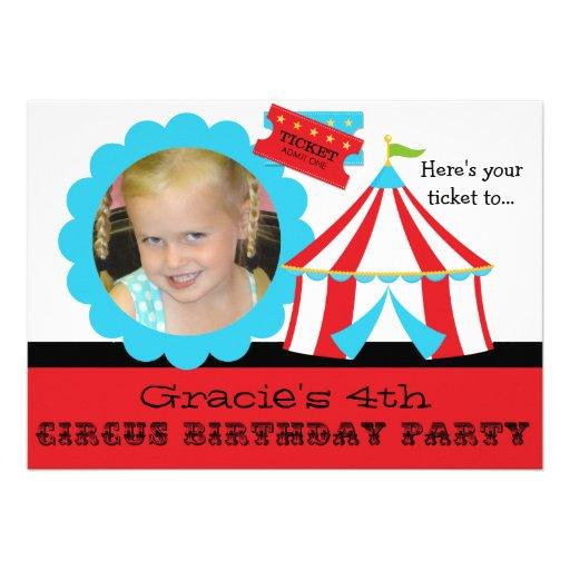 Beställnings- inbjudan för födelsedag 5x7 för foto