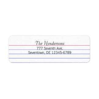 Beställnings- indexkort returadress etikett