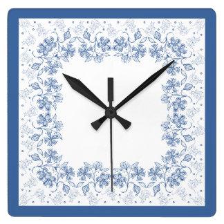 Beställnings- indigoblå blått som den blom- fyrkantig klocka