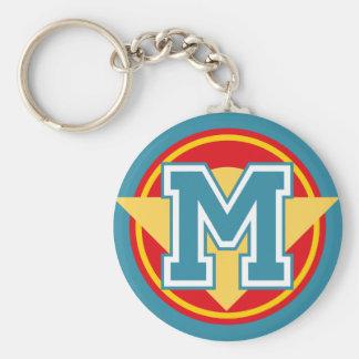 Beställnings- initialt Monogrambrev M Rund Nyckelring