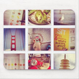 Beställnings- Instagram fotoCollage Mousepad Musmatta