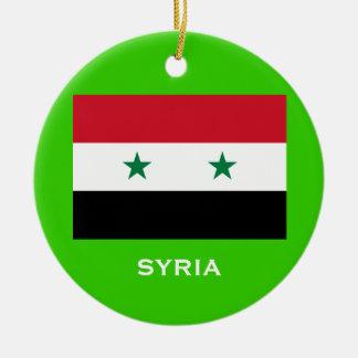 Beställnings- julprydnad för SYRIA* Julgransprydnad Keramik