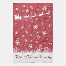 Beställnings- julSanta Sleigh och renhandduk Handukar
