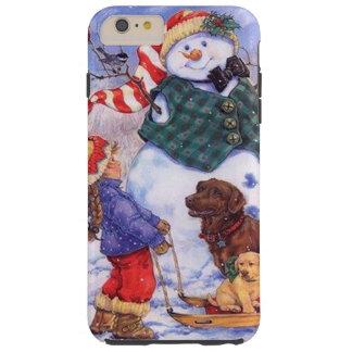 Beställnings- julsnögubbe för härlig helgdag tough iPhone 6 plus skal