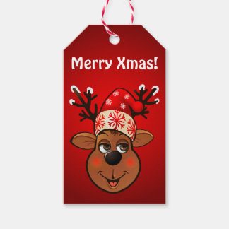 Beställnings- Jultomte ren Presentetikett