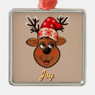 Beställnings- Jultomte ren Silverfärgad Fyrkantigt Julgransprydnad