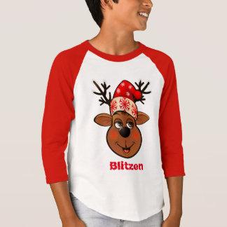Beställnings- Jultomte ren Tee Shirt