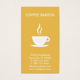 beställnings- kaffebaristaaffär visitkort