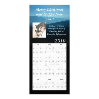 Beställnings- kalenderkuggekort, jul/nytt år reklamkort