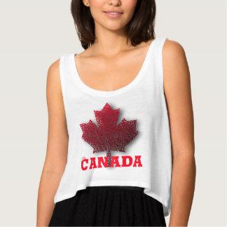 Beställnings- Kanada dagskjorta Tank Top Med Flowy Crop