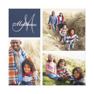 Beställnings- kanvastryck för Collage för familjMo