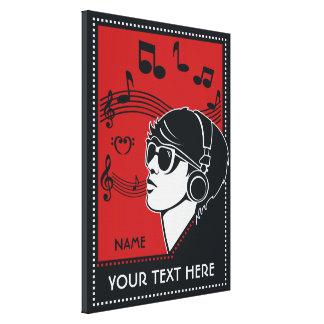 Beställnings- kanvastryck för textart décomusik