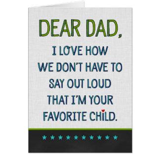 Beställnings- kär pappa hälsningskort