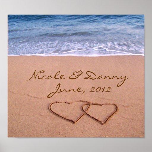 Beställnings- kärlek på strandaffischen med datera posters