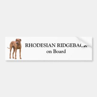 Beställnings- klistermärke för Rhodesian Ridgeback