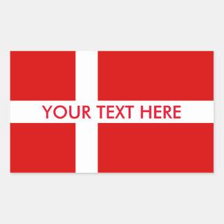 Beställnings- klistermärkear för danskaflagga för rektangulärt klistermärke