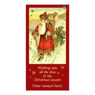 Beställnings- kort för antik pappa juljultomten