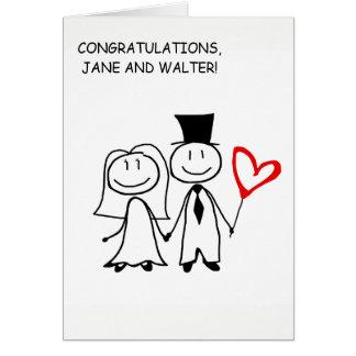 Beställnings- kort för bröllopsdaggrattis