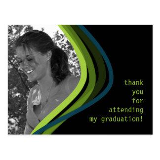 Beställnings- kort för fotostudententack vykort
