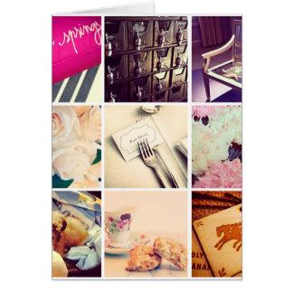Beställnings- kort för hälsning för Instagram