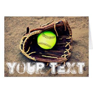 Beställnings- kort för hälsning för textFastpitch