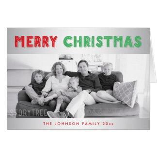 Beställnings- kort för silvergod julhälsning