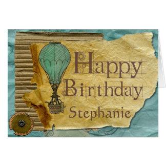 Beställnings- kort för Steampunk vintagefödelsedag
