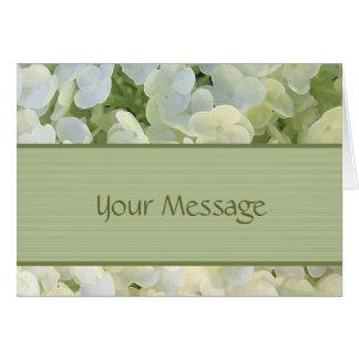 Beställnings- kort för vitvanlig hortensia