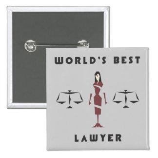 Beställnings- kvinnlig geometrisk världs bäst standard kanpp fyrkantig 5.1 cm