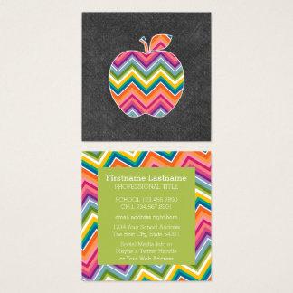 Beställnings- lärare Apple med det moderiktiga Fyrkantigt Visitkort