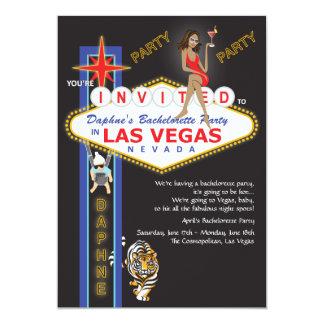 Beställnings- Las Vegas Bachelorette party 12,7 X 17,8 Cm Inbjudningskort