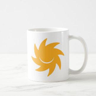 Beställnings- logotyp för DIY som ler - glänsande Kaffemugg