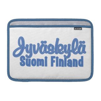 Beställnings- MacBook sleeve för JYVÄSKYLÄ Finland