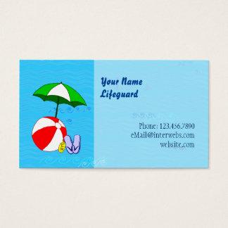 Beställnings- mall för paraply för bassäng för visitkort