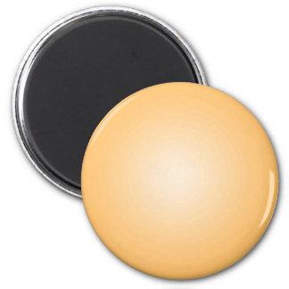 Beställnings- mall: Radiell orange vit för lutning Magnet