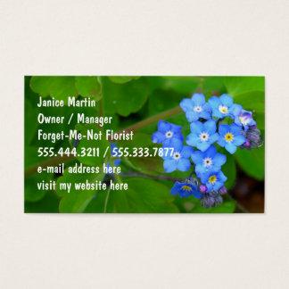 Beställnings- mallvisitkortar för förgätmigej visitkort