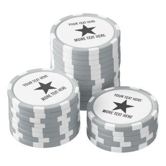 Beställnings- markörer för pokerchipgolfboll med poker marker