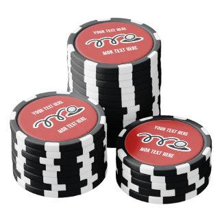 Beställnings- markörer för pokerchipgolfboll   poker marker