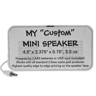 Beställnings- mini- högtalaremallklotter vid bärbara högtalare