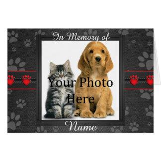 Beställnings- minnes- meddelandeTribute för hund Hälsningskort