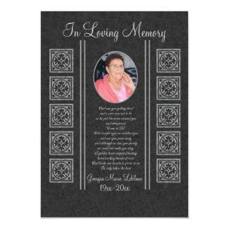 Beställnings- minnes- minnessaker 12,7 x 17,8 cm inbjudningskort