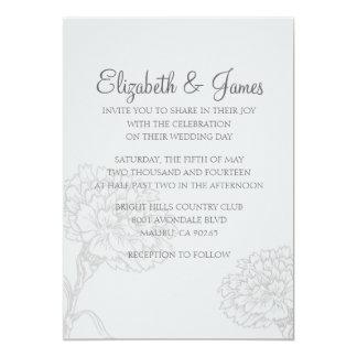 Beställnings- moderna grå färgbröllopinbjudningar 12,7 x 17,8 cm inbjudningskort