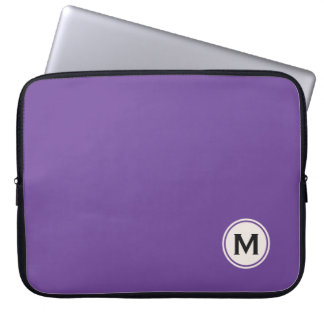 Beställnings- monogram- & färglaptop sleeve laptop datorfodral
