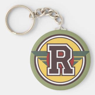 """Beställnings- Monogrambrev """"R"""" märka med sina Rund Nyckelring"""