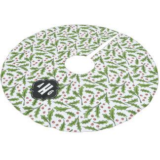 Beställnings- mönster för Sprig för Julgransmatta Borstad Polyester