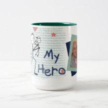 Beställnings- mugg för kaffe för fotofars dagpappa