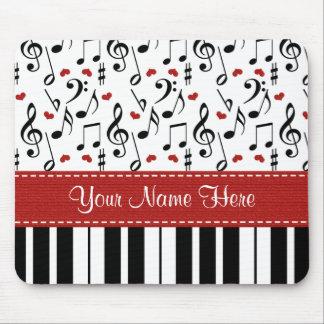 Beställnings- musik noterar pianot Mousepad Musmatta