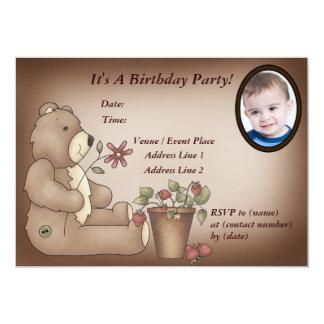 Beställnings- nallefödelsedagsfest inbjudan