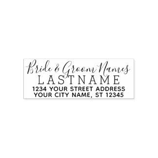 Beställnings- namn och returadress för självfärgande stämpel
