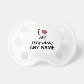 Beställnings- napparkärlek min mormor bebis napp